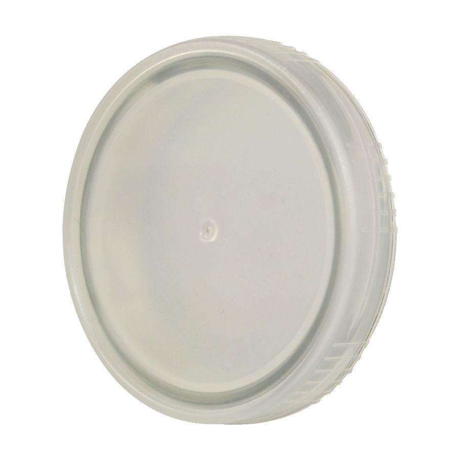 10 Tampa Plastica Incolor para Vidro Pote Palmito 74mm 500ml