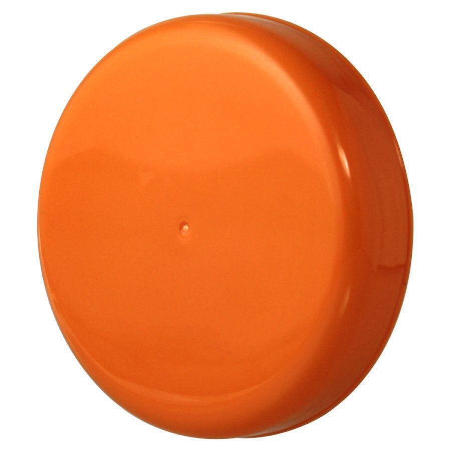 10 Tampa Plástica Laranja para Vidro de Palmito de 3 Litros para Pote com Boca de 110mm
