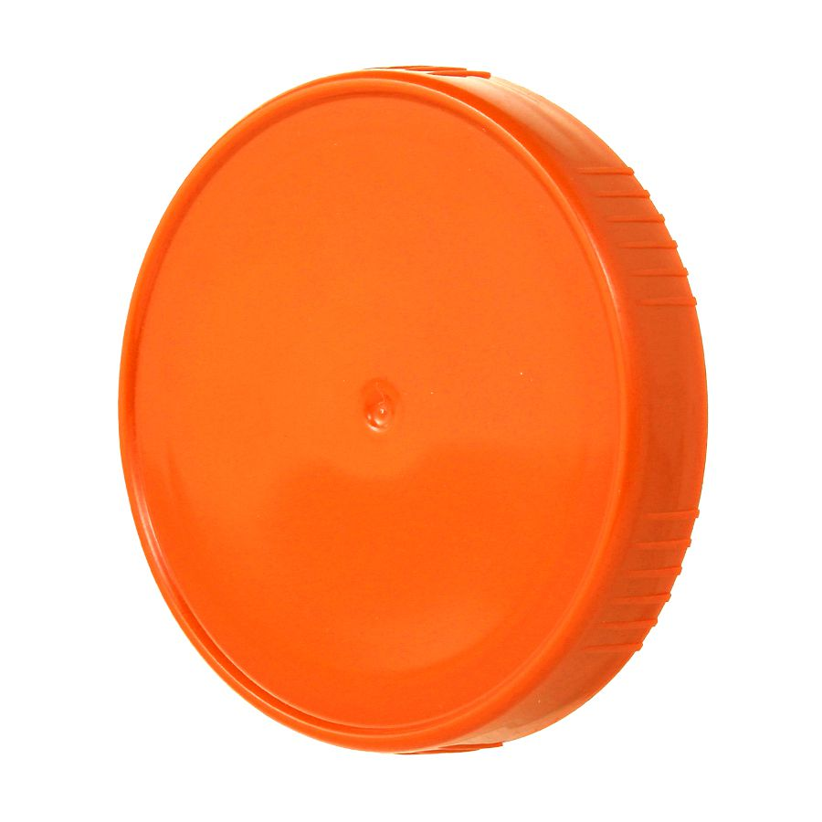 10 Tampa Plastica Laranja para Vidro Pote Palmito 74mm 500ml