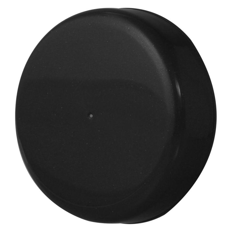 10 Tampa Plástica Preta para Vidro de Palmito de 3 Litros para Pote com Boca de 110mm