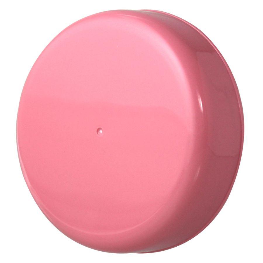 10 Tampa Plástica Rosa para Vidro de Palmito de 3 Litros para Pote com Boca de 110mm