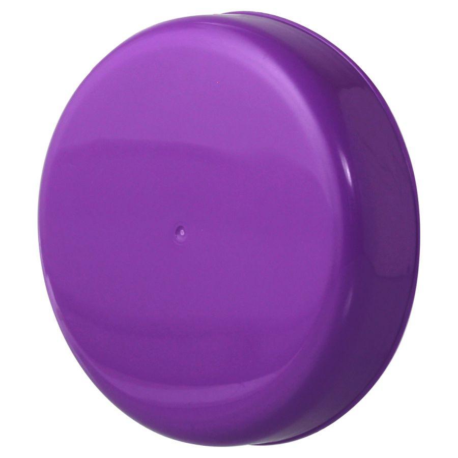 10 Tampa Plástica Roxa para Vidro de Palmito de 3 Litros para Pote com Boca de 110mm