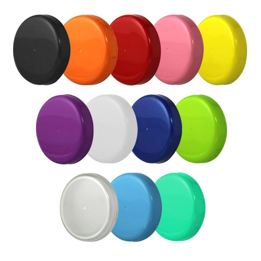 10 Tampa Plástica Sortidas para Vidro de Palmito de 3 Litros para Pote com Boca de 110mm