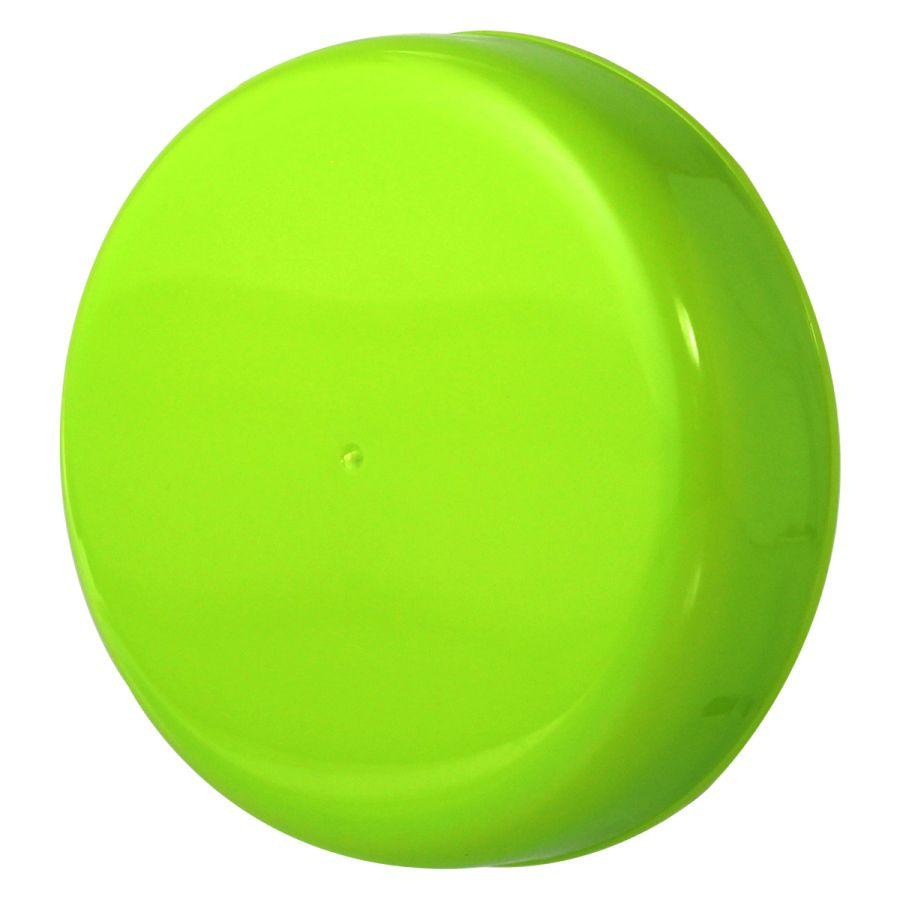 10 Tampa Plástica Verde para Vidro de Palmito de 3 Litros para Pote com Boca de 110mm