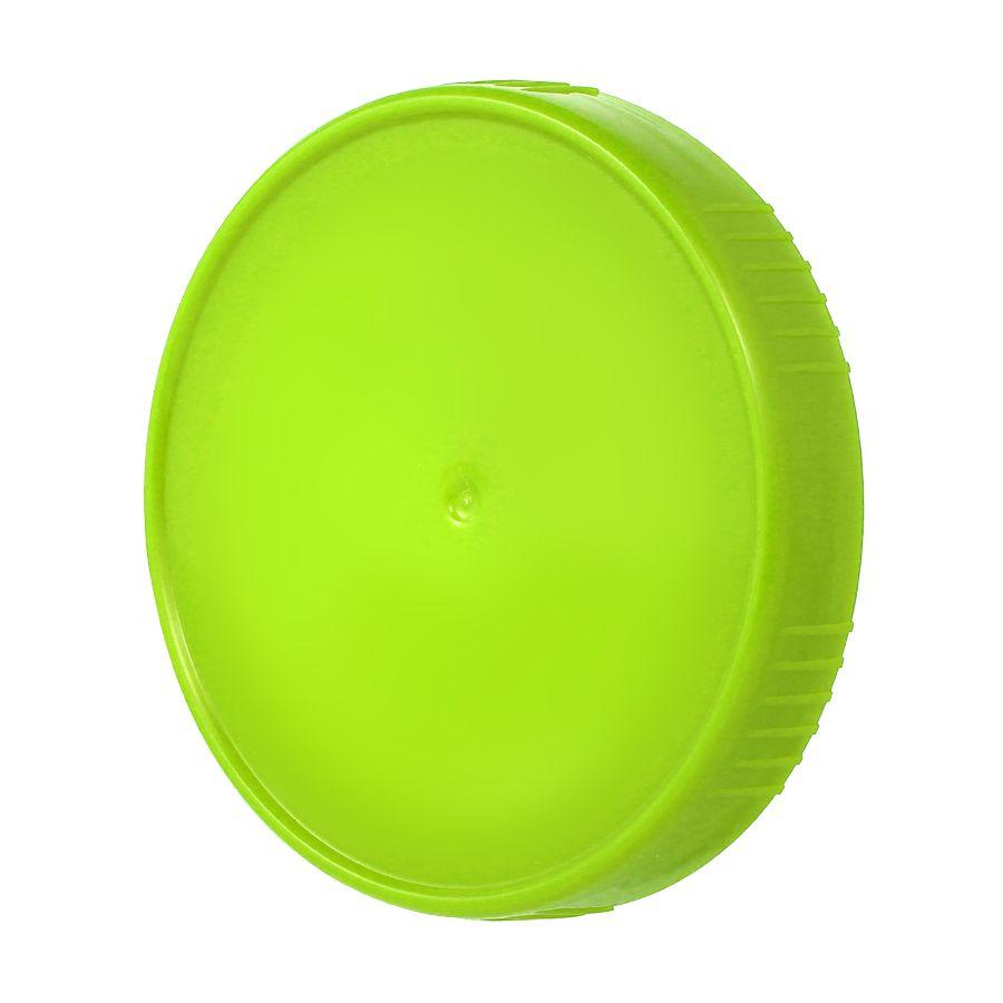 10 Tampa Plastica Verde para Vidro Pote Palmito 74mm 500ml