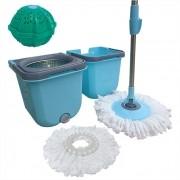 Spin Mop Cesto Inox Com 2 Refis  + Bola Lava Roupas