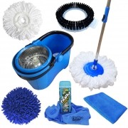 Spin Mop Perfect Pro Com 4 Refis + Toalha Mágica + Pano Microfibra