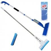 Mop Spray Com 1 Refil Extra + Rodo Mágico 27 Cm com 1 Refil Extra