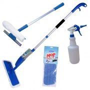 Mop Spray Vassoura Com Reservátorio, Borrifador, Rodo Limpa Vidros