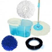 Perfect Mop 360 Urban 4 Refis , Limpeza a Pó, Escovão e Microfibra