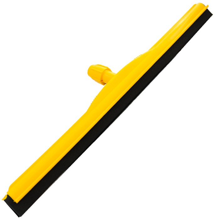 Rodo Plástico Sem Cabo Borracha Dupla  EPDM - Amarelo