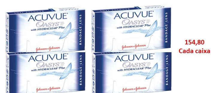 4c49acd815be4 Combo 4 caixas Lentes de Contato Terapêuticas Acuvue Oasys Bandage - Lentes  de Contato Expert