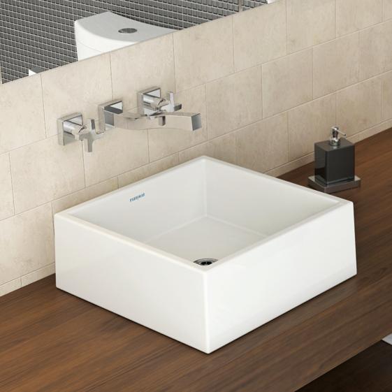 Cuba de Apoio Quadrada 40×40 L002B Fabrimar  Acimel  Tudo em Material de A -> Cuba Para Banheiro Redonda Ou Quadrada