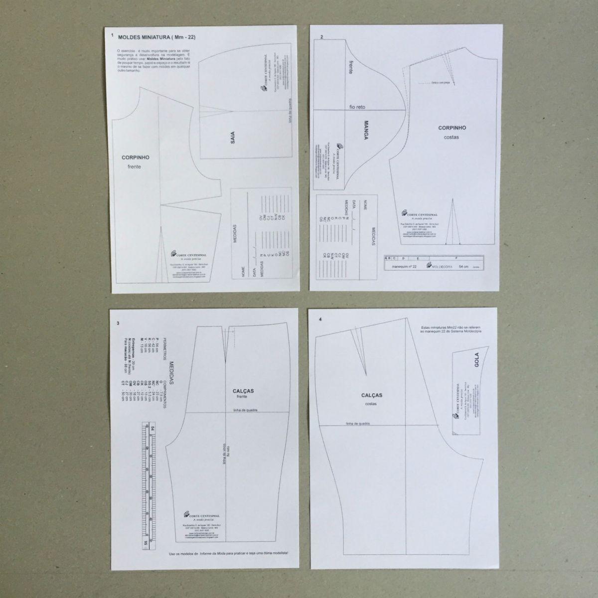 Sistema Moldecópia 3 kits  - Corte Centesimal