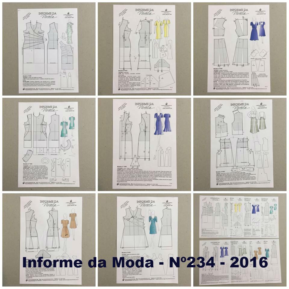 Informes da Moda 232 ao 237 na Pasta Catálogo  - Corte Centesimal