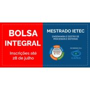 Taxa de inscrição no processo seletivo do Mestrado Ietec - Bolsa