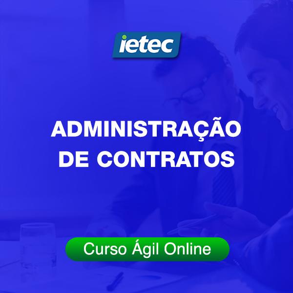 Curso Ágil - Administração de Contratos  - Loja IETEC