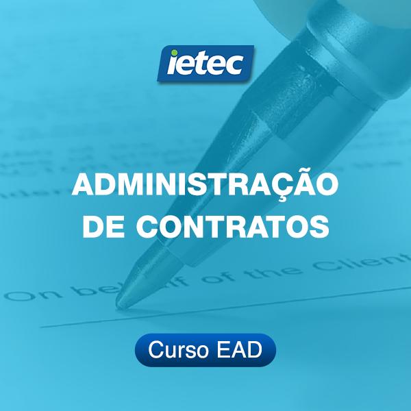 Curso EAD - Administração de Contratos  - Loja IETEC