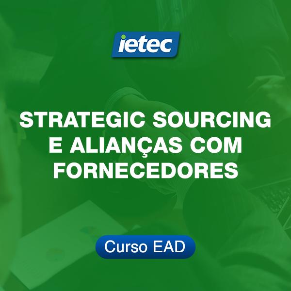 Curso EAD - Strategic Sourcing e Alianças com Fornecedores  - Loja IETEC