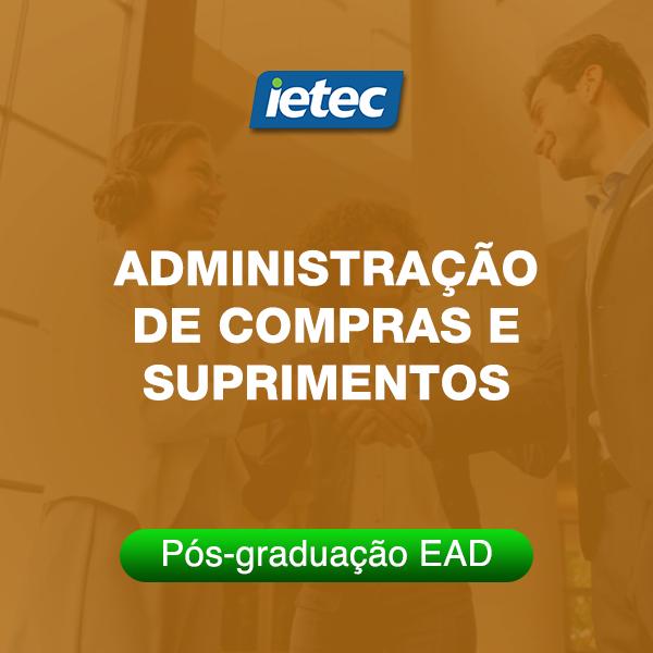 Pós-graduação EAD - Administração de Compras e Suprimentos EAD  - Loja IETEC