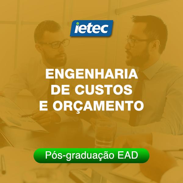 Pós-graduação EAD - Engenharia de Custos e Orçamento EAD  - Loja IETEC