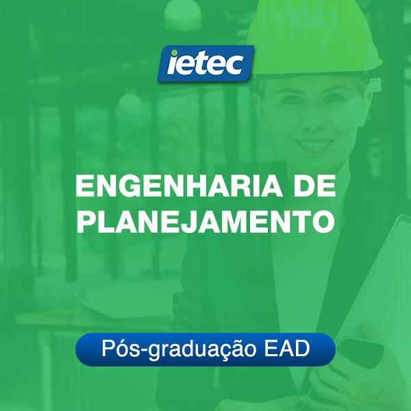 Pós-graduação EAD - Engenharia de Planejamento EAD  - Loja IETEC