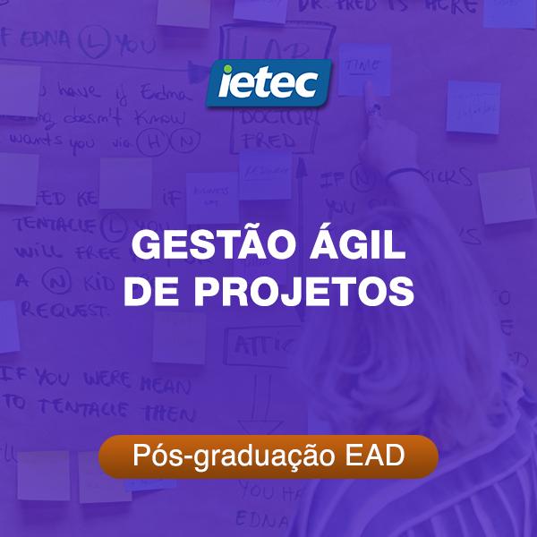 Pós-graduação EAD - Gestão Ágil de Projetos  - Loja IETEC