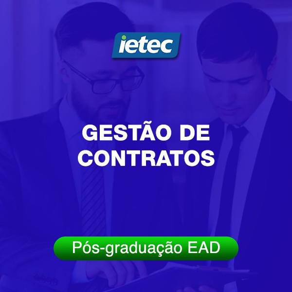 Pós-graduação EAD - Gestão de Contratos EAD  - Loja IETEC
