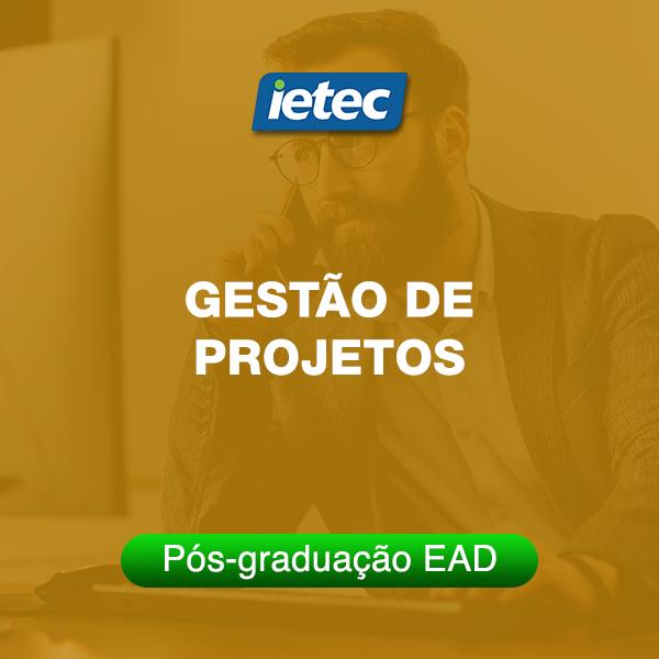Pós-graduação EAD - Gestão de Projetos  - Loja IETEC