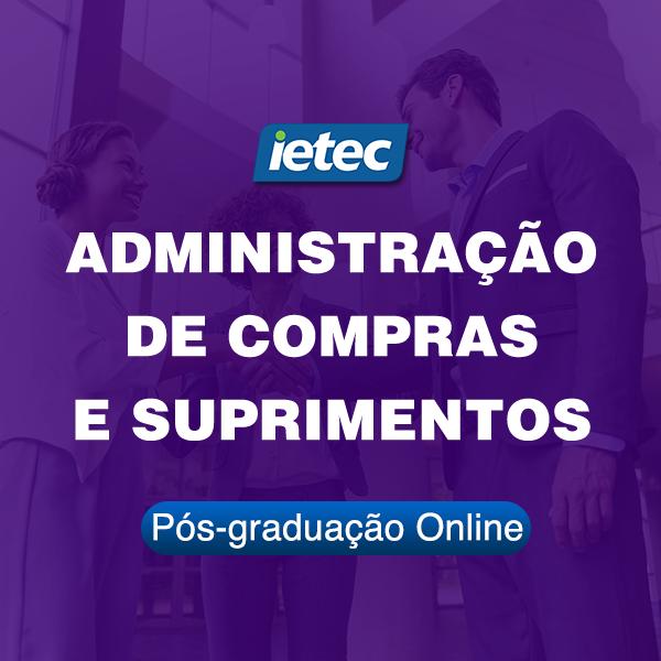 Pós-graduação Online - Administração de Compras e Suprimentos  - Loja IETEC