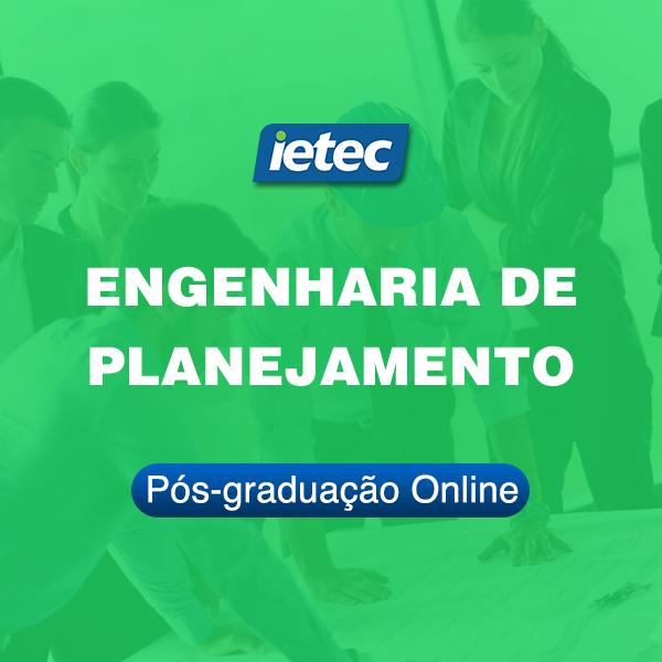 Pós-graduação Online - Engenharia de Planejamento  - Loja IETEC