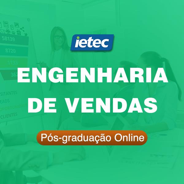 Pós-graduação Online - Engenharia de Vendas  - Loja IETEC