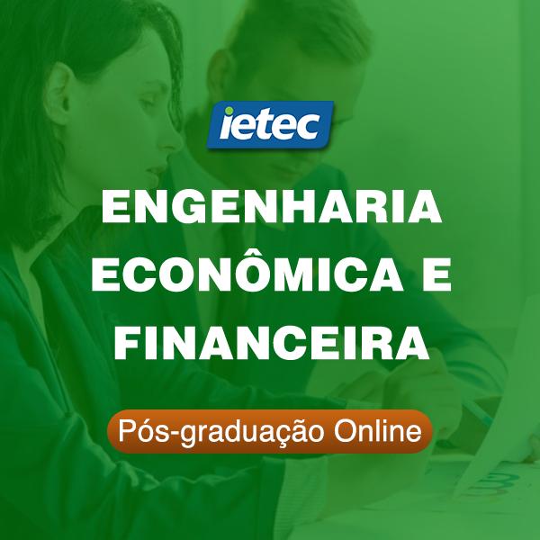 Pós-graduação Online - Engenharia Econômica e Financeira  - Loja IETEC