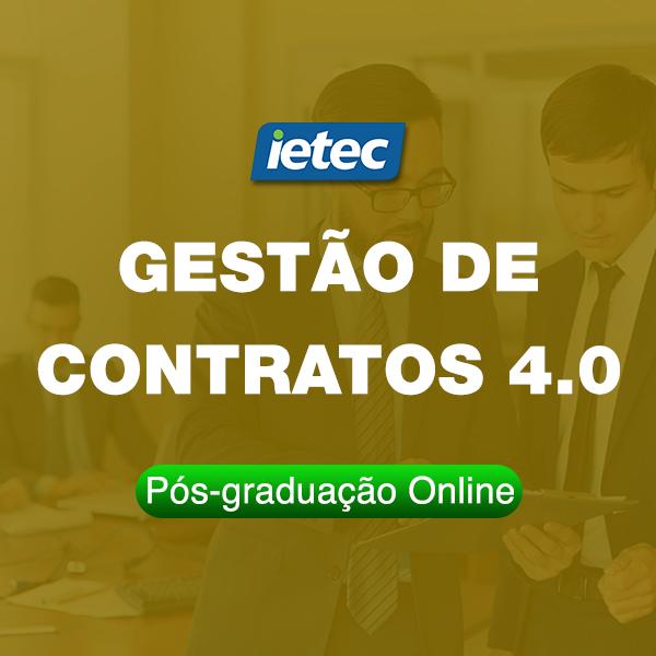 Pós-graduação Online - Gestão de Contratos 4.0  - Loja IETEC