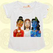 Camiseta Buda, Krishna e Jesus