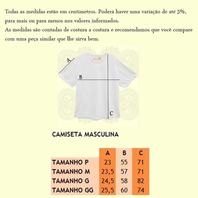 Camisa Masculina Calendário Maia