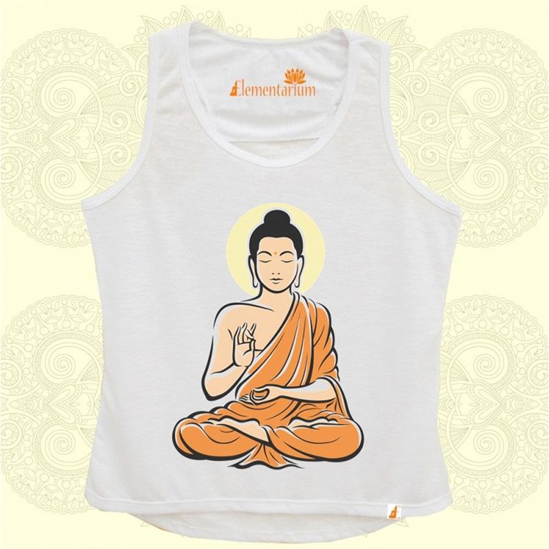 Camiseta Buda Laranja