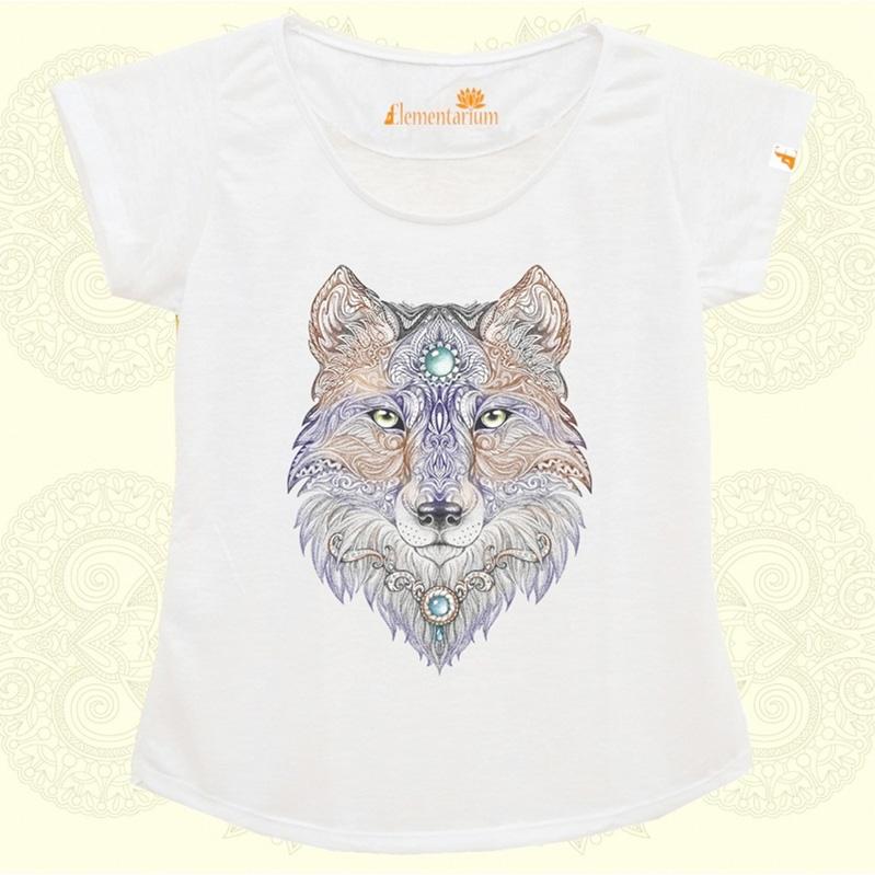 Camiseta Lobo Místico