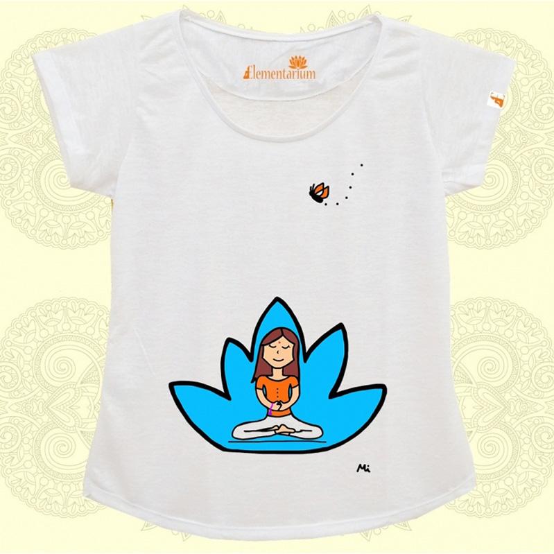 Camiseta Meditação Lotus Azul