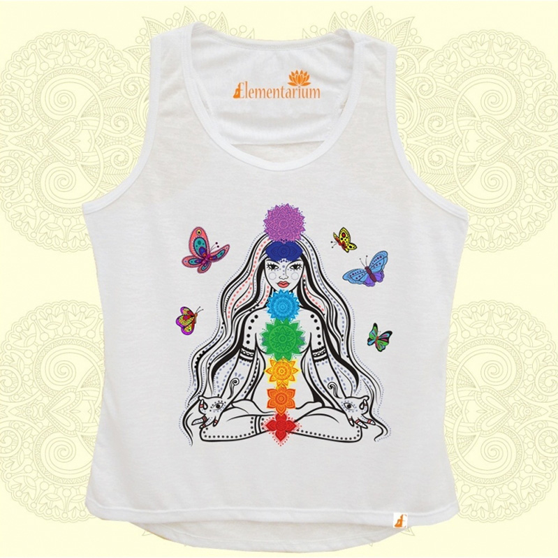 Camiseta Meditando com as Borboletas