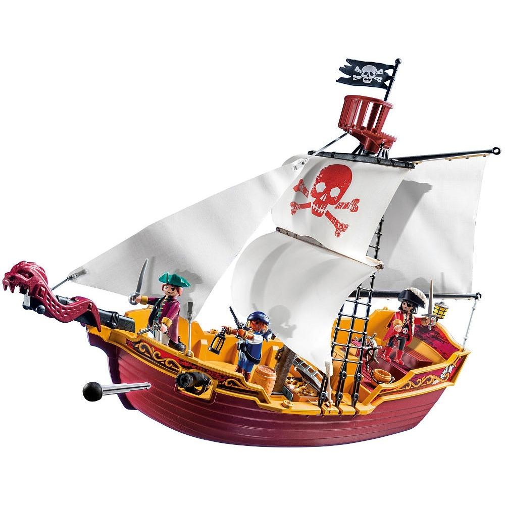 Playmobil Navio de Ataque Pirata 74 peças - Sunny  - Doce Diversão