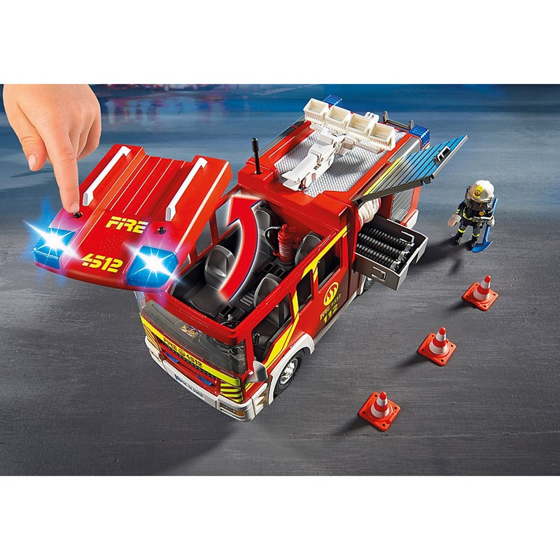 Playmobil Caminhão de Bombeiros com Equipamentos - Sunny  - Doce Diversão