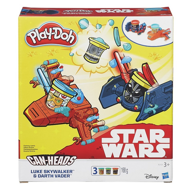 Play Doh Star Wars – luke Skywalker e Darth Vader - Hasbro  - Doce Diversão