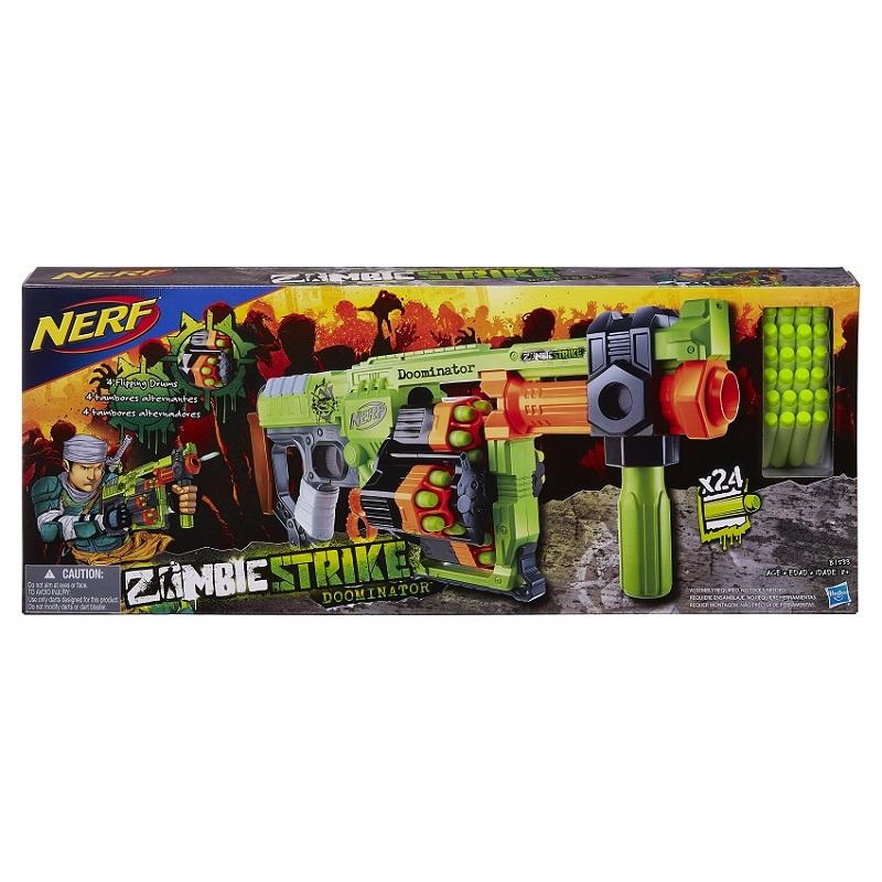 Nerf Zombie Strike Doominator - 4 tambores giratorios - Hasbro  - Doce Diversão