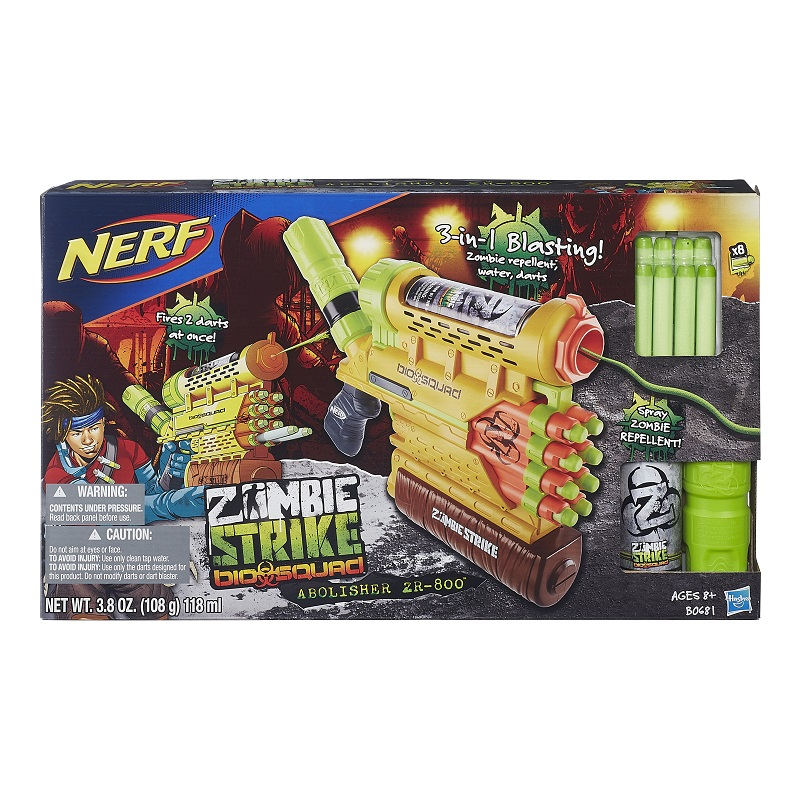 Nerf Zombie Strike  Biosquad 3 em 1 - Hasbro  - Doce Diversão
