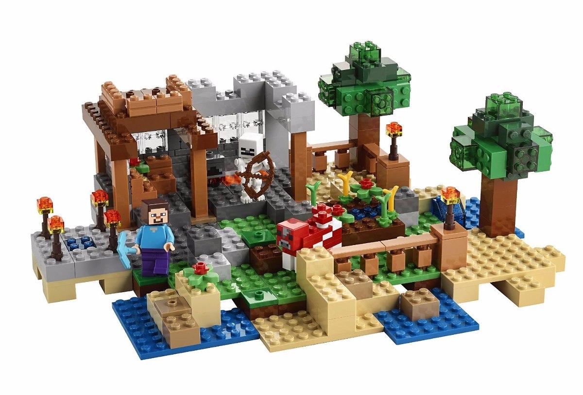 Lego 21116 -  Minecraft  – Caixa Criativa 518peças  - Doce Diversão