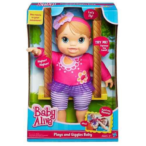 Boneca Baby Alive Balancinho – Reage a movimento  - Hasbro  - Doce Diversão