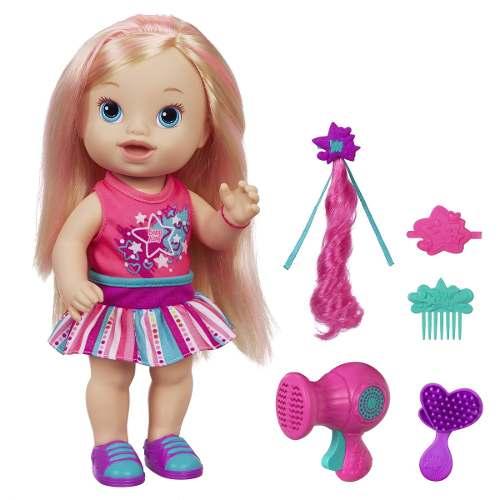 Boneca Baby Alive Cabelos Fashion Loira C/ Secador - Hasbro  - Doce Diversão
