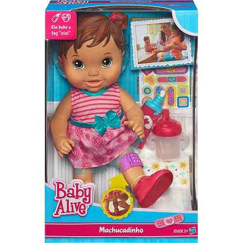 Boneca Baby Alive Machucadinho Morena - Hasbro  - Doce Diversão