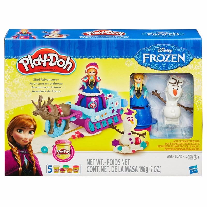 Play Doh Disney Treno Frozen – Anna e Olaf - Hasbro  - Doce Diversão